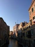 Venezia canale sikt Arkivfoto