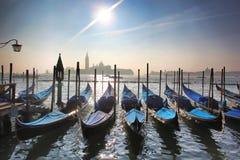Venezia con le gondole in Italia Fotografie Stock