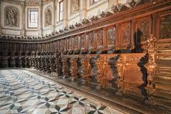 Venezia: Coro della chiesa del George del san Fotografia Stock