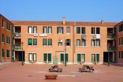 Venezia, il cortile della casa sull'isola di Murano Immagini Stock Libere da Diritti