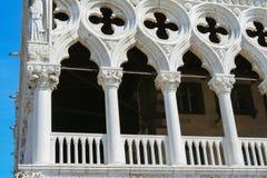 Venezia, dettaglio di Palazzo Ducale immagini stock libere da diritti