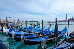 Venezia e le sue gondole Fotografie Stock Libere da Diritti