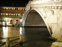 Venezia entro la notte Fotografie Stock