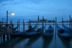 Venezia entro la notte Fotografia Stock Libera da Diritti