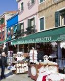 venezia för försäljning för buranoitaly lacework Royaltyfri Bild