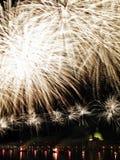 Venezia - fuochi d'artificio durante la festività del Redeeme immagine stock libera da diritti