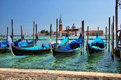 Venezia-gondole Image stock
