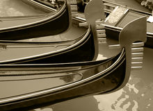 Venezia: Gondole Fotografia Stock