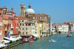 Venezia, grande canale Immagine Stock Libera da Diritti