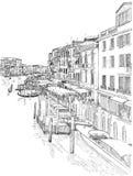 Venezia - grande canale illustrazione vettoriale