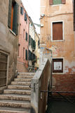 Venezia historic centre. Photo image of  particular venezia   with alley and stairs Stock Photography