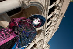 VENEZIA, ITALIA - 16 FEBBRAIO: mascherina veneziana Fotografia Stock Libera da Diritti