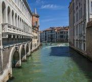 Venezia, Italia - acque e cieli blu verdi Fotografia Stock Libera da Diritti