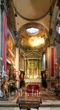 Venezia, Italia - 14 agosto 2017: Interno della chiesa degli ss Salvatore immagini stock
