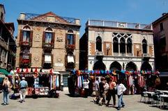 Venezia, Italia: Campo de l'Anconeta immagine stock libera da diritti