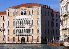 Venezia, Italia - ` Foscari di Ca su Grand Canal Fotografia Stock Libera da Diritti
