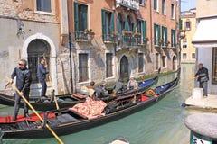 Venezia, Italia gondolas Fotografia Stock Libera da Diritti