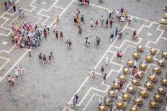 Venezia, Italia, il 9 agosto 2013: Quadrato di St Mark (piazza) da Th Immagini Stock
