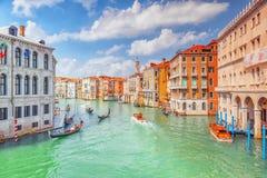 VENEZIA, ITALIA - 12 MAGGIO 2017: Viste di canale più bello immagini stock libere da diritti