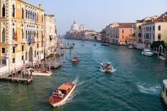VENEZIA, ITALIA - 26 OTTOBRE: Vista giù Grand Canal a Venezia immagine stock