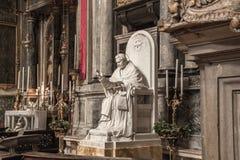 Venezia, Italia - 7 settembre 2017: Statua di Papa Pio X in chiesa del San Salvador immagini stock libere da diritti