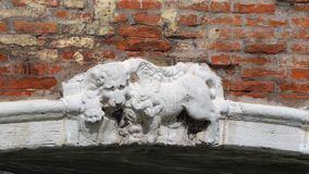 Venezia, Italy. The Lion of Saint Marco symbol of the presence of Venice on the different buildings and monuments. Venezia, Italy. The Lion of Saint Marco symbol stock images