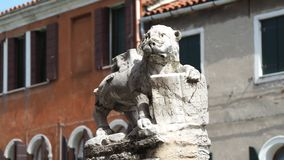 Venezia, Italy. The Lion of Saint Marco symbol of the presence of Venice on the different buildings and monuments. Venezia, Italy. The Lion of Saint Marco symbol stock image