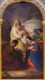 Venezia - la presentazione nel tempio da Antonio Ermolao Paoletti (1833 - 1913) nella chiesa di San Giovanni e Paolo dei Di della Fotografie Stock