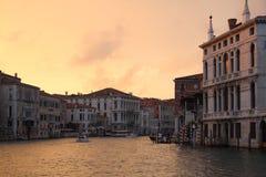 Venezia - la sera su Grand Canal Fotografia Stock Libera da Diritti