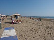 Venezia Lido plaża w Wenecja Zdjęcia Royalty Free