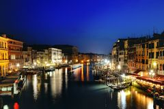 Venezia at night, Venice, Italy Stock Photography