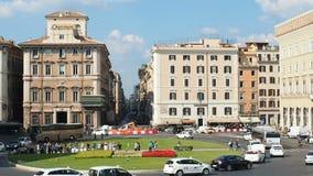Venezia Roma de la plaza del tráfico almacen de metraje de vídeo