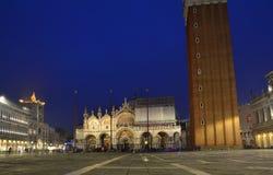 Venezia San Marco, di notte fotografia stock libera da diritti