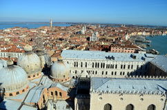 Venezia from San Marco Tower royalty free stock photography
