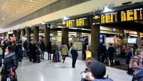Venezia Santa Lucia railway station, Venice, Italy, stock video footage