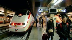 Venezia Santa Lucia railway station, Venice, Italy, stock footage