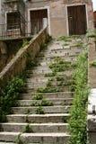 Venezia, scala abbandonata del palazzo fotografia stock