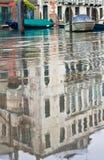 Venezia si è sommersa dall'alta marea Fotografia Stock
