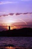 Venezia - tramonto fotografia stock