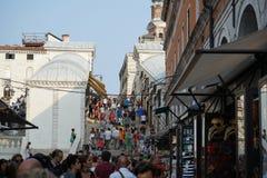 Venezia turistica ammucchiata Immagine Stock