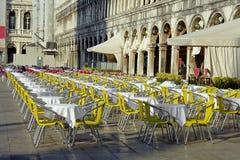 Venezia, un caffè sulla piazza San Marco Fotografia Stock