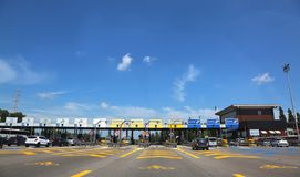 Venezia, VE, Italy - July 8, 2018: gates of Italian highway royalty free stock photo