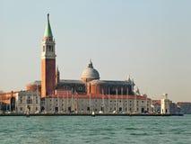 Venezia (Venecia) Vista de la basílica de San Giorgio Maggiore Fotos de archivo libres de regalías