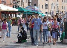 venezia venice перемещения туристов направляющего выступа Стоковое Фото