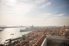 Venezia Vista aerea di Venezia con i Di Santa Maria d della basilica Fotografia Stock Libera da Diritti