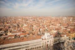 Venezia Vista aerea di Venezia con la piazza San Marco Fotografia Stock