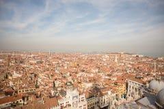 Venezia Vista aerea di Venezia con la piazza San Marco Immagine Stock
