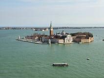 Venezia Vista de St George Island Imágenes de archivo libres de regalías