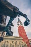 Venezia, vista della campana della torre di San Marco immagine stock libera da diritti
