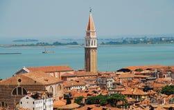 Venezia Wiev与圣弗朗切斯科della豇豆钟楼的 免版税图库摄影